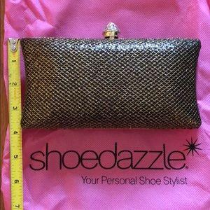 Shoedazzle black & gold clutch
